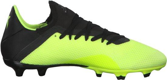 adidas X 18.3 Fg Voetbalschoenen Heren - Solar Yellow/Core Black - Maat 44 2/3
