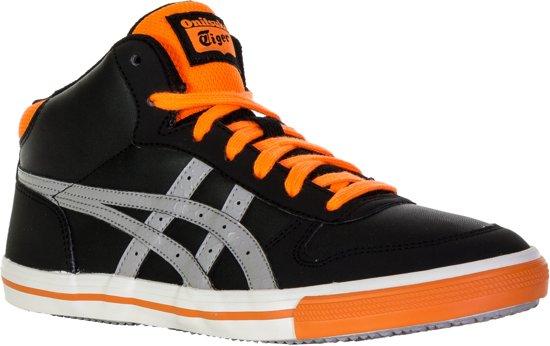 Asics Aaron MT GS sneakers Junior  Sportschoenen - Maat 37 - Unisex - zwart/grijs/oranje