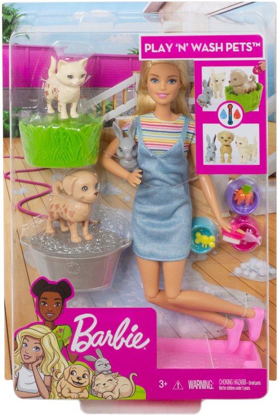 Barbie Huisdierenwassalon Speelset - Barbiepop