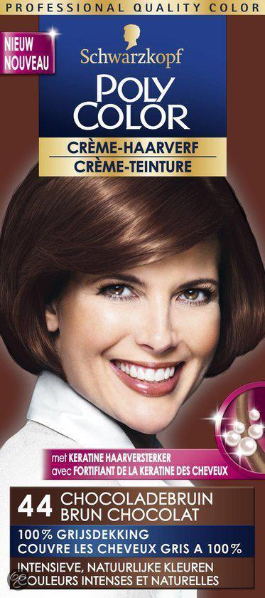Schwarzkopf Poly Color Haarverf - 44 Chocoladebruin