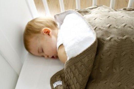 Baby's Only Deken Ledikant Kabel 135x100 cm - Lichtblauw