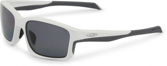 Oakley Chainlink - Zonnebril - Matte White - Grey Polarized