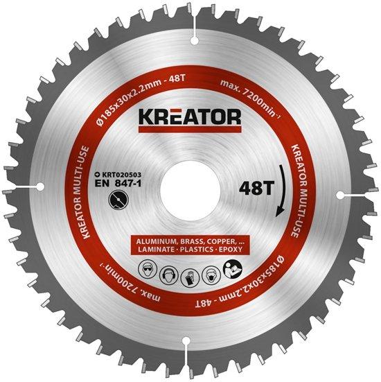 Kreator KRT020503 Cirkelzaagblad - Universeel - 185 mm - 48T