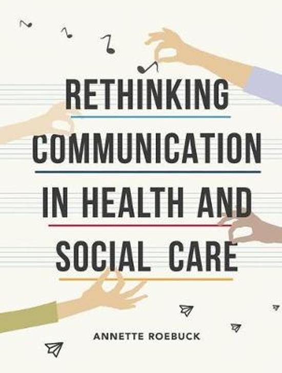 what is communication in health and social care