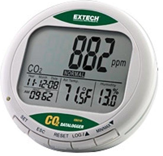 CO210: CO2 monitor voor luchtkwaliteit met geheugen