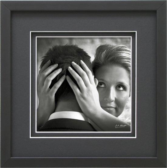 bol.com | Deknudt Frames Fotokader zwart + dubbele passe-partout met ...