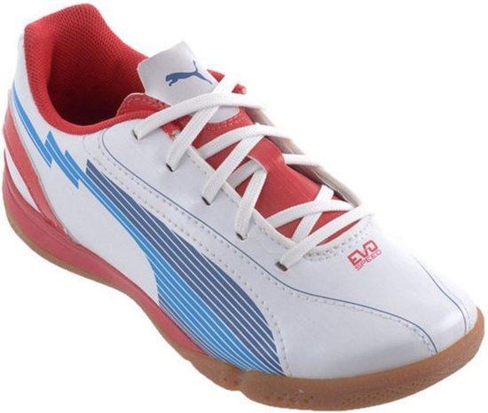 060f2e2a08e bol.com | Puma Zaalschoenen Evospeed 5 It Heren Wit/rood/blauw Maat 45