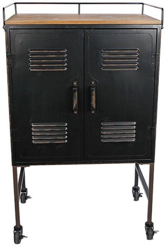 Zwarte Metalen Kast 575x36xh945 Cm