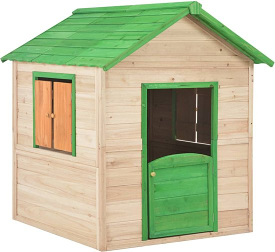 vidaXL Kinderspeelhuis hout groen