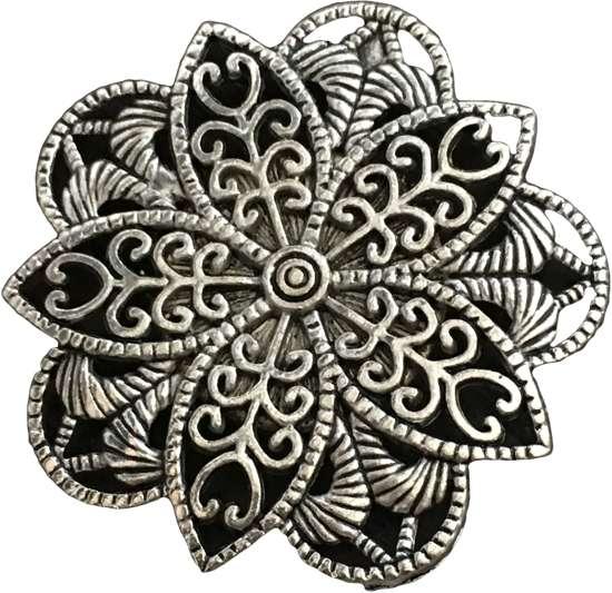 Magneetbroche bloem