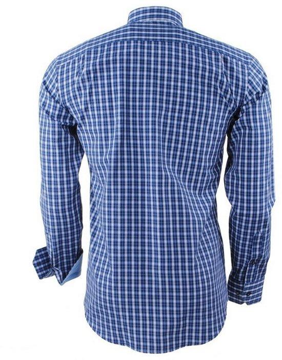 Wit Geblokt Polo Navy Borstzak Heren Overhemd Enrico xwT8qtYx