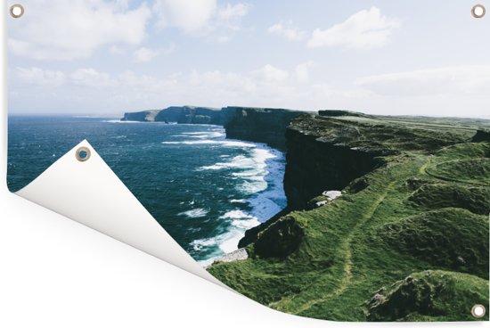 De Ierse kustlijn van de Kliffen van Moher Tuinposter 120x80 cm - Tuindoek / Buitencanvas / Schilderijen voor buiten (tuin decoratie)