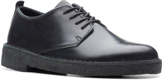 d9f27500 Clarks Desert London Dames Veterschoenen - Black Polished - Maat 37