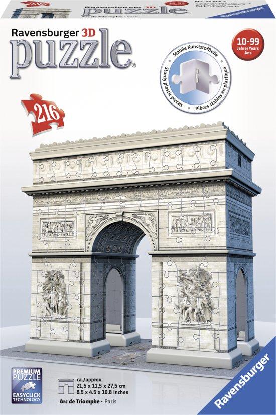 Ravensburger Arc de Triomphe Parijs- 3D puzzel gebouw - 216 stukjes
