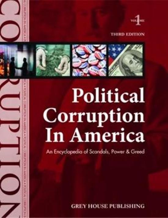 Political Corruption in America, 2 Volume Set
