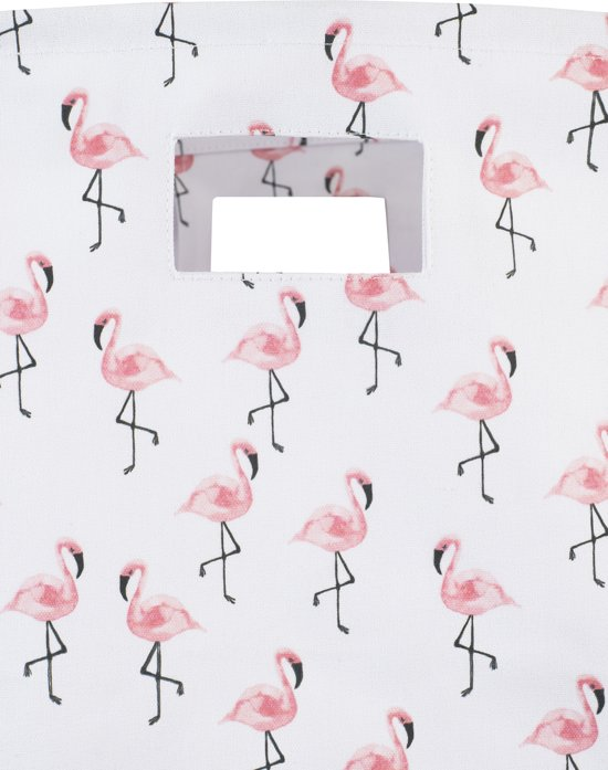 Jollein Flamingo Mand XL canvas