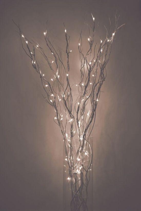 5 takken met verlichting 20 led warm wit 70 cm kerst