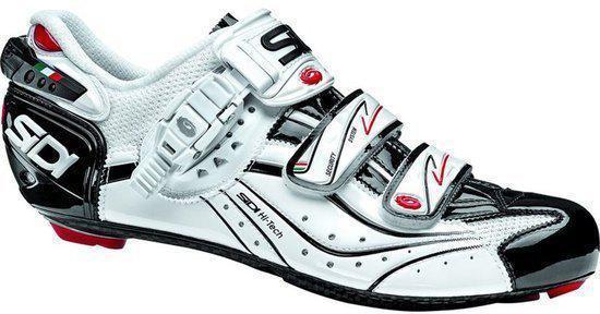 Chaussures Blanches Sidi Pour L'été Avec Des Hommes De Fermeture Velcro fGrQO