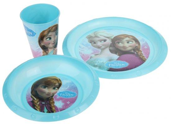 Disney Frozen Lunchset Blauw 3 Delig