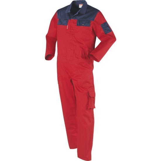 Workman Utility Overall 3038 rood / navy - Maat 100