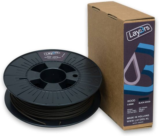 Lay3rs Woodfill Black Wood - 1.75 mm