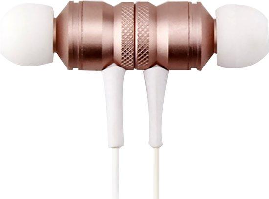 QY Bluetooth In-ear Draadloze Koptelefoon Z-97 - Headset - Oordopjes - Oortjes - Hoofdtelefoon - Oortelefoon - Headphones - Geschikt voor Hardloop & Sport - Draadloos - Wireless Bereik Tot 10 Meter! - Wit/Rozé