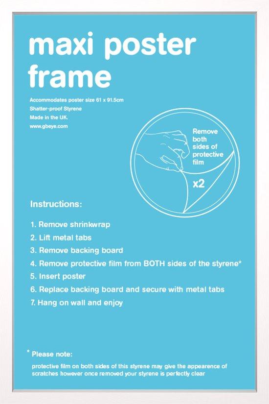 Wissellijst-Posterlijst-witte rand formaat 50x70cm. Aanbieding
