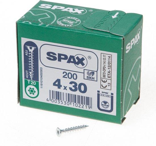 Spax Spaanplaatschroef Verzinkt Torx 4.0 x 30 (200) - 200 stuks