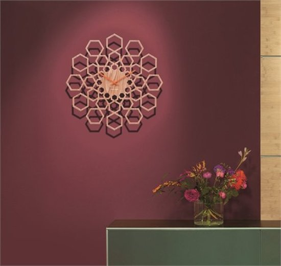 Karlsson Sunshine Hexagon Wandklok à 48 cm