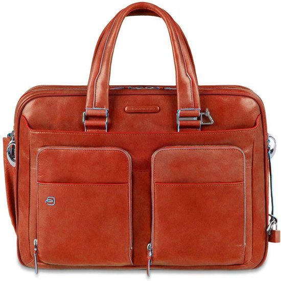 Piquadro Blue Square Expandable Laptop & iPad case orange
