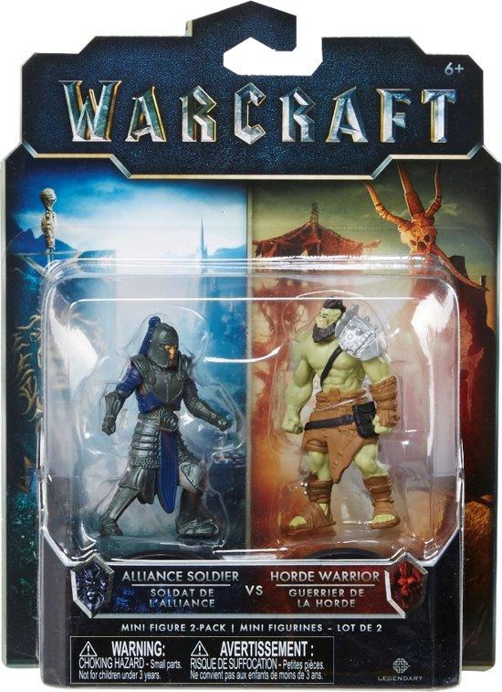 Warcraft Mini Figures - Alliance Soldier vs Horde Warrior