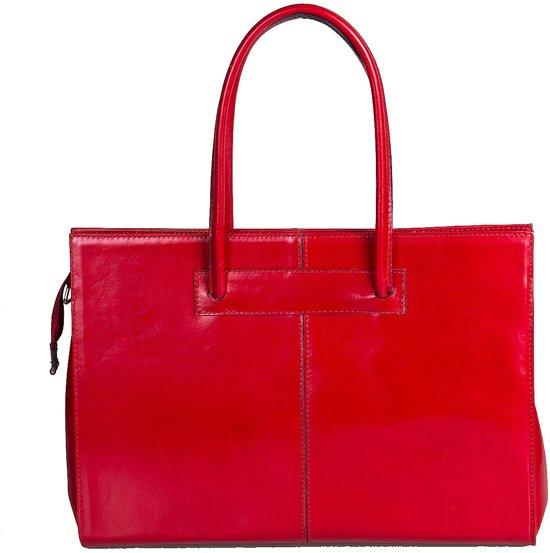 1d763c1baed Viabologna Laptoptas Elegante leer - rood