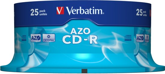 Verbatim 43352 CD-R AZO Crystal Schijven - 25 stuks / Spindel