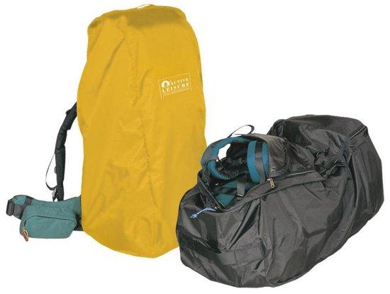 Regenhoes/flightbag voor backpack - 55-80 liter - geel