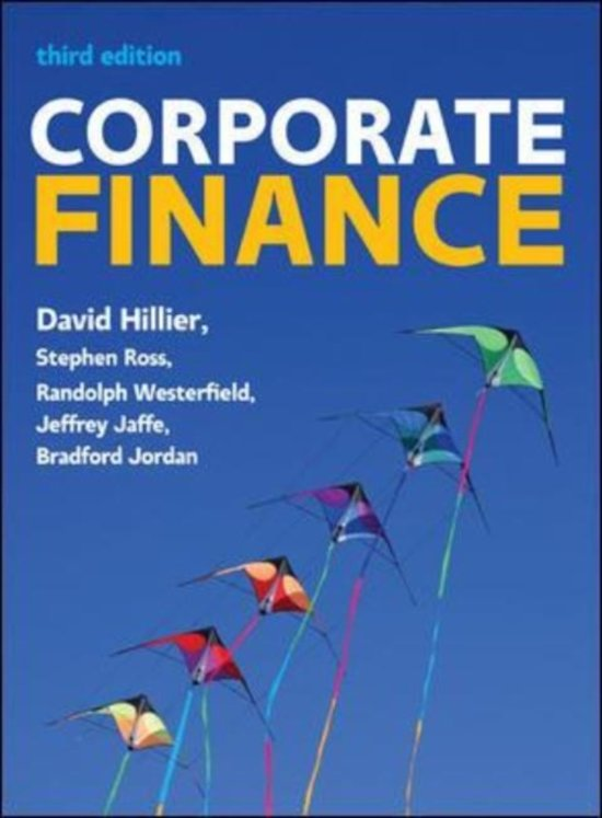 corporate finance hillier ross westerfield jaffe jordan pdf