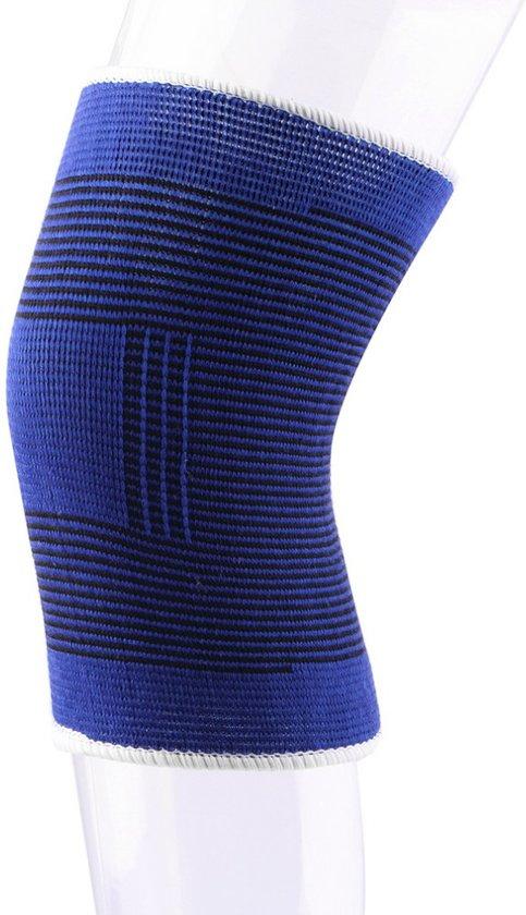 Kniebrace Kniebandage - Knie Bescherming Ortho Compressie - Elastisch Massage - Hardlopen Sporten Wielrennen - Lichte Knieklachten - Blauw - One Size - 1 stuks - Sport-Plein