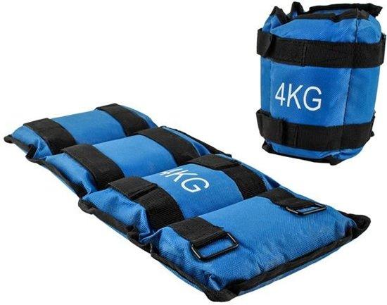 Gewichten Set Enkel & Pols - 2x 2kg Fitness Workout Hardloop Enkelband & Polsband - Gewichtsmanchetten