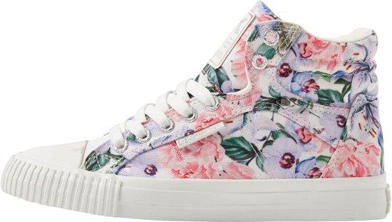 f02c624fb1a bol.com | British Knights DEE Dames sneakers hoog - Lila bloemen ...