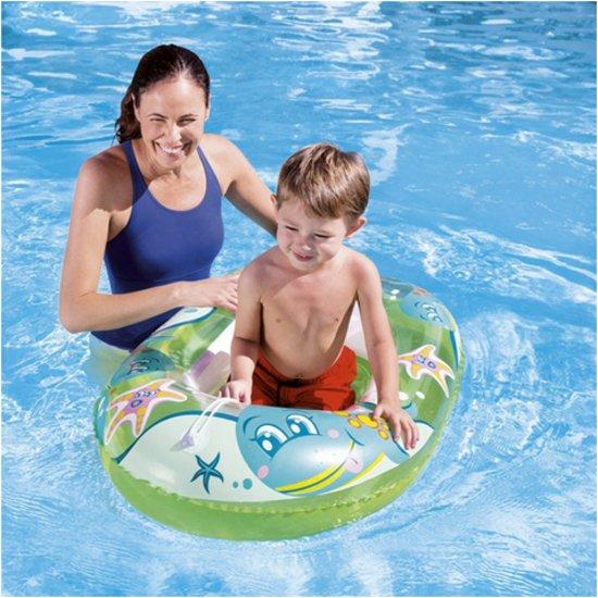 Zwembad bootje Groen - met doorkijk - baby - kinderen