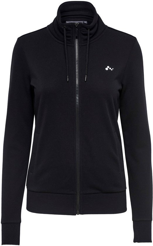 Only Play Elina High Neck Sweat Dames Vest - Black - Maat M