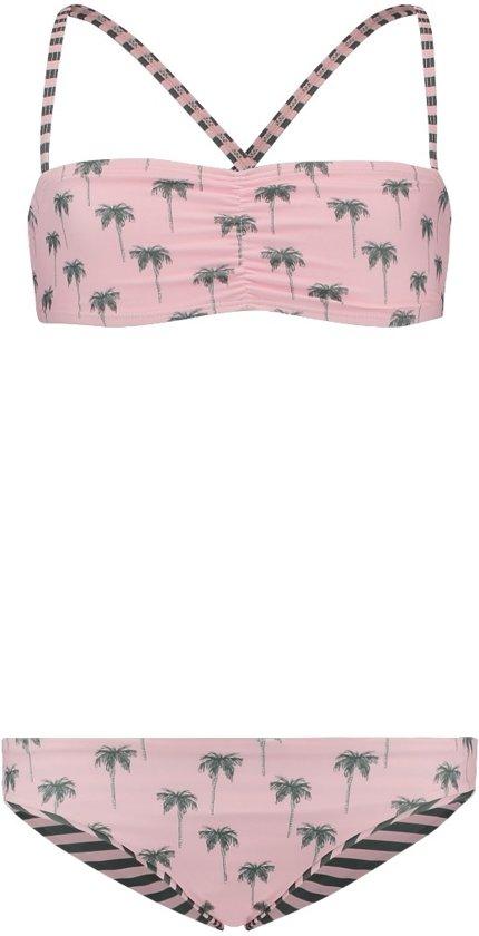 492321a8811ac bol.com | Shiwi Bandeau bikini palmtree stripe - almond pink - 176