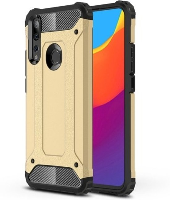 Teleplus Huawei Y9 Prime 2019 Case Double Layer Tank Cover Gold hoesje
