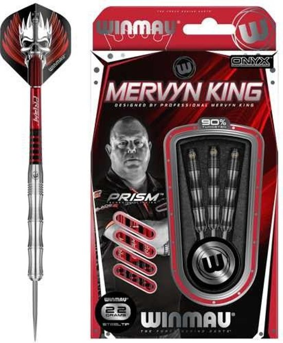 Winmau 90% Tungsten Steeltip dartpijlen - Mervyn King - 22 Gram