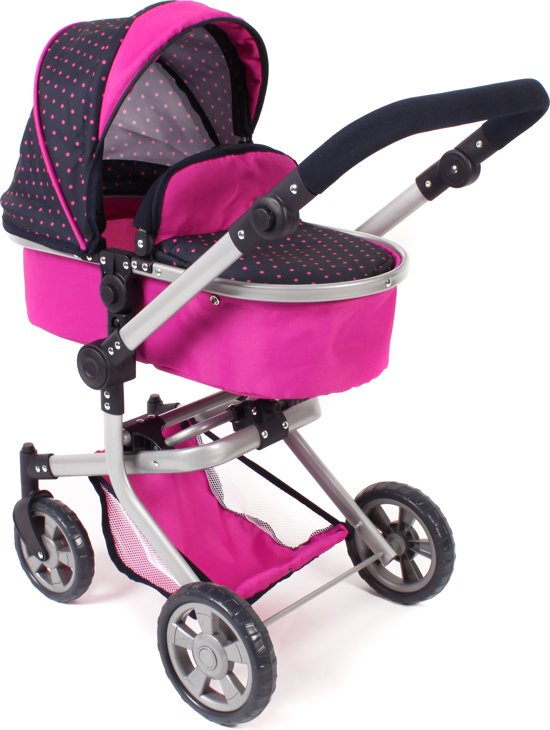 Combi Poppenwagen Mika Navy Pink - Bayer Chic 2000 - 59512