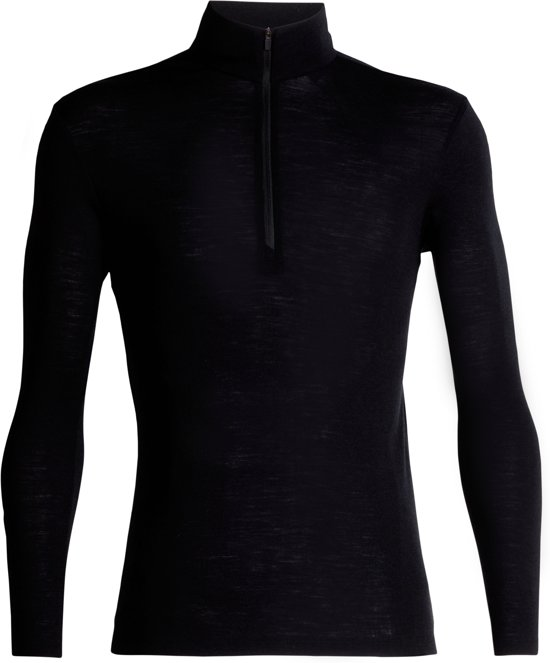 Icebreaker 175 Everyday LS Half Zip Heren Thermoshirt - Black - S