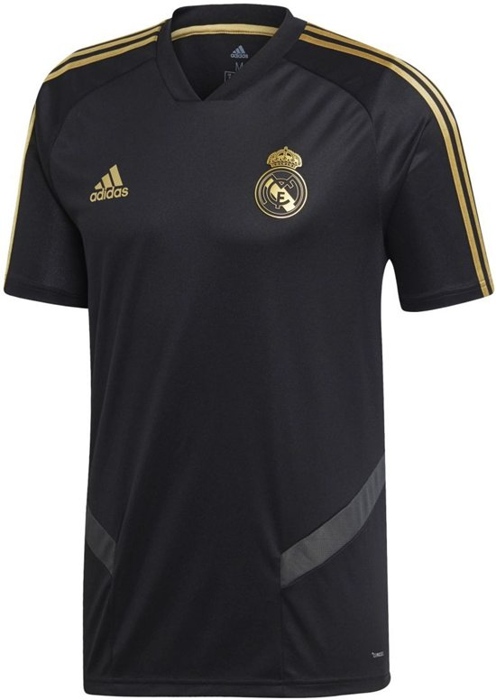 adidas Real Madrid Trainingsshirt 2019/2020 Heren - Zwart - Maat M