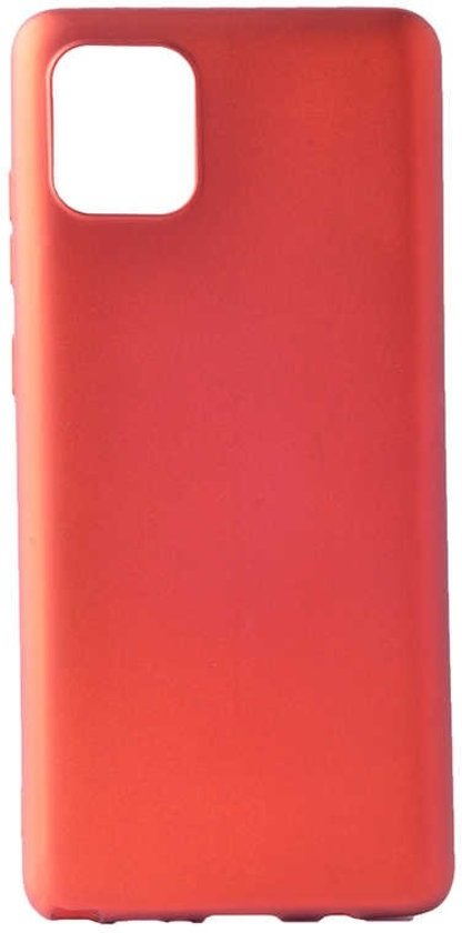 Teleplus Samsung Galaxy S10 Lite Case Luxury Matte Silicone Red + Nano Screen Protector hoesje