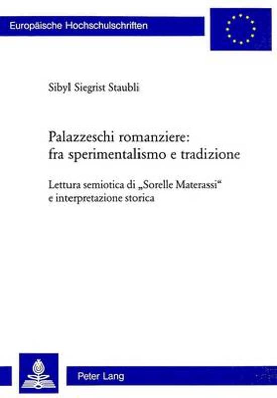Palazzeschi Romanziere