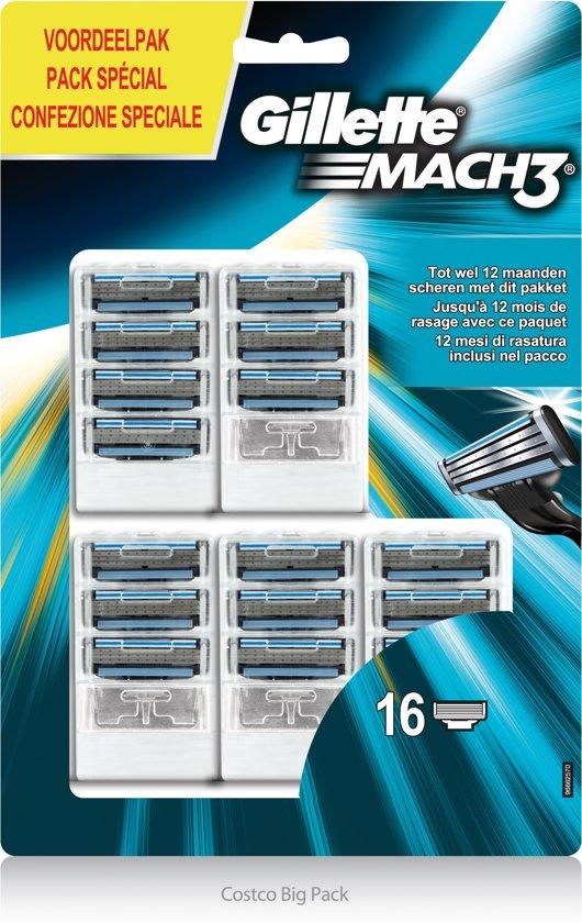 Gillette Mach 3 Scheermesjes Navulling - 16 stuks