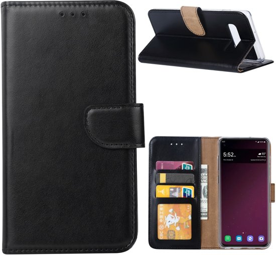 Samsung Galaxy S10 Hoesje Zwart met Pasjeshouder
